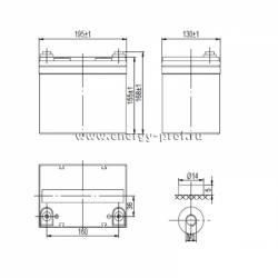 Размер АКБ Парус HM-12-33