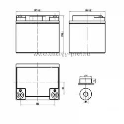 Размер АКБ Парус HM-12-40