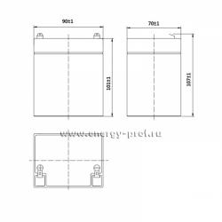 Габаритные размеры АКБ Парус HM-12-5