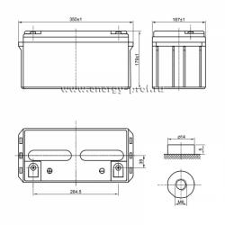Размер АКБ Парус HM-12-65