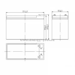 Размер АКБ Парус HM-12-7