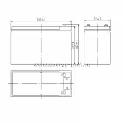 Размер АКБ Парус HM-12-9