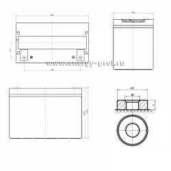 Размер АКБ Парус HM-12-90
