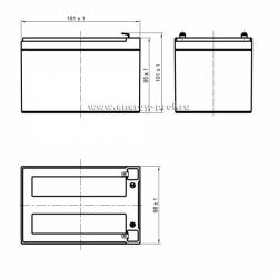 Размер АКБ Парус Электро HML-12-12