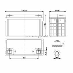 Размер АКБ Парус Электро HML-12-120