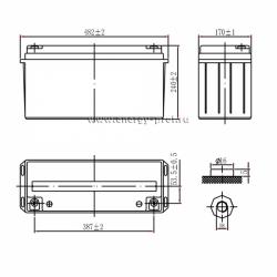 Размер АКБ Парус Электро HML-12-150