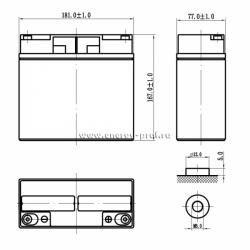 Размер АКБ Парус Электро HML-12-18