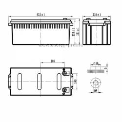 Размер АКБ Парус Электро HML-12-180