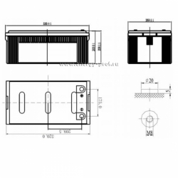 Размер АКБ Парус Электро HML-12-230