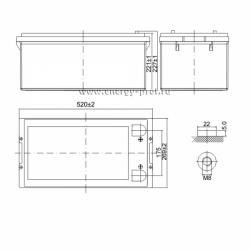 Размер АКБ Парус Электро HML-12-250