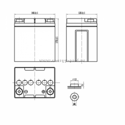 Размер АКБ Парус Электро HML-12-28