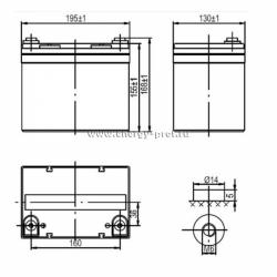 Размер АКБ Парус Электро HML-12-33