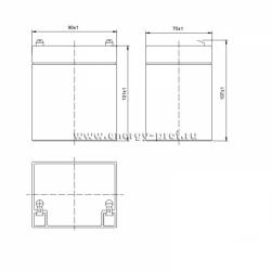 Размер АКБ Парус Электро HML-12-5