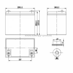 Размер АКБ Парус Электро HML-12-75
