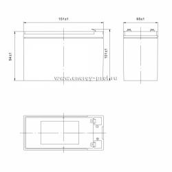 Размер АКБ Парус Электро HML-12-9