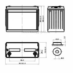Размер АКБ Парус Электро HML-12-140