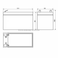 Размер АКБ Восток СК-1207