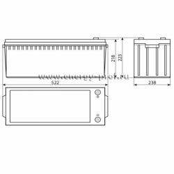 Размер АКБ Восток СК-12200