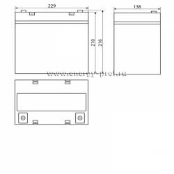 Размер АКБ Восток СК-1255