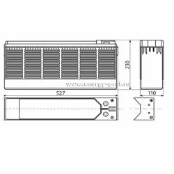 Размер АКБ Восток ТС-12100