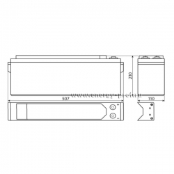 Размер АКБ Восток ТС-12105