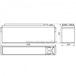 Размер АКБ Восток ТС-12125