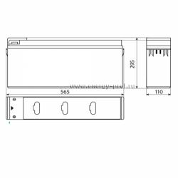 Размер АКБ Восток ТС-12150