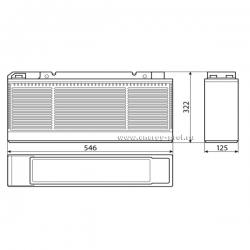 Размер АКБ Восток ТС-12180