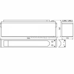 Размер АКБ Восток ТС-1280