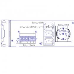 клеммная колодка инверторного стабилизатора Штиль Инстаб is1500R