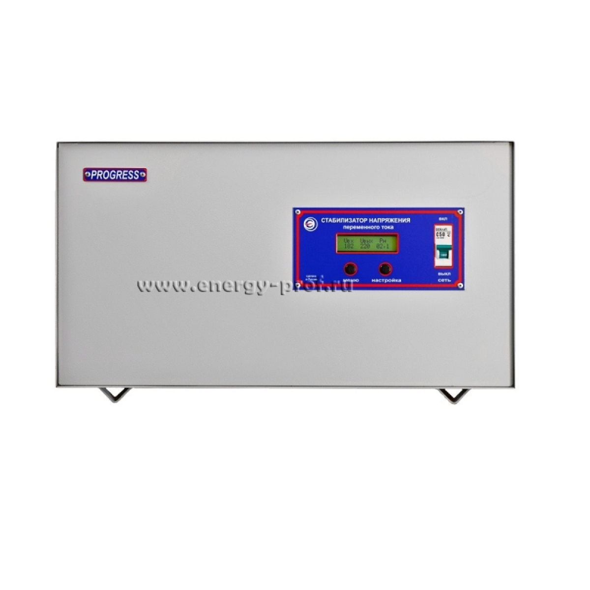 Однофазный стабилизатор PROGRESS 5000SL, вид спереди