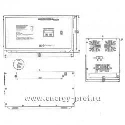 Габариты, Однофазный стабилизатор Lider PS 15000SQ-PRO-15