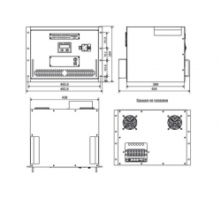 Однофазный стабилизатор Lider PS 7500SQ-R-40, габариты